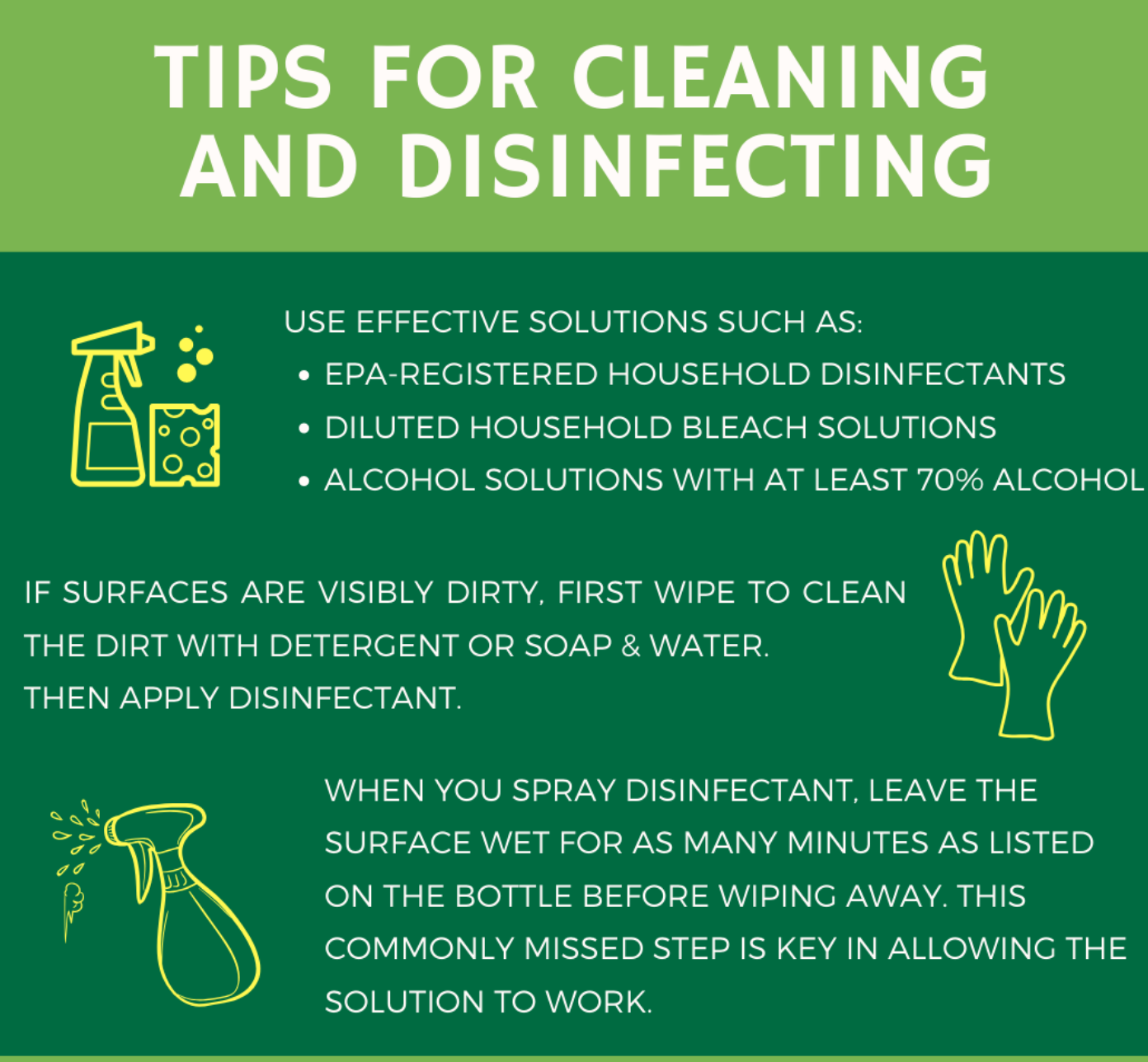 cleaning and disinfecting tips at home toronto
