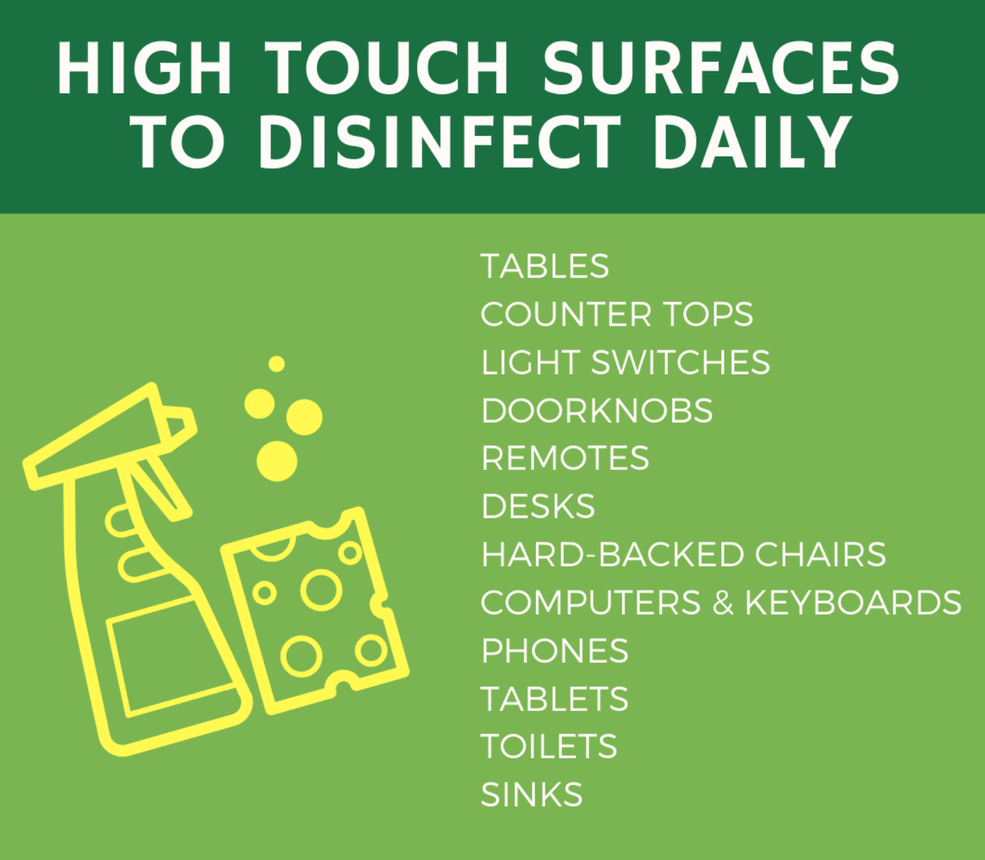 disinfect surfaces at home